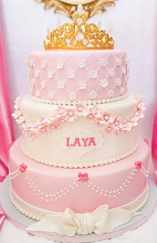 Royal Princess First Birthday Party Pink Gold Hostess With