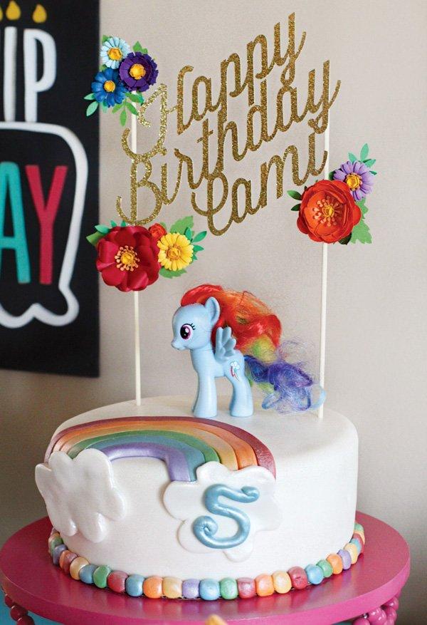 rainbow dash my little pony birthday cake