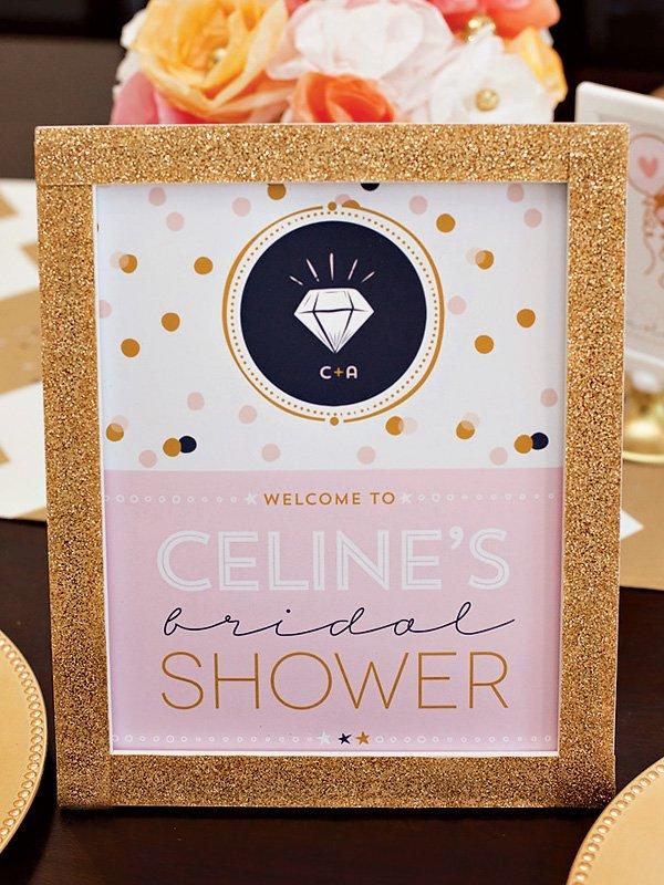 confetti bridal shower - custom sign