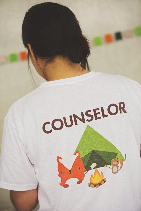 custom camp party counselor shirts