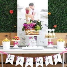floral garden bridal shower dessert table