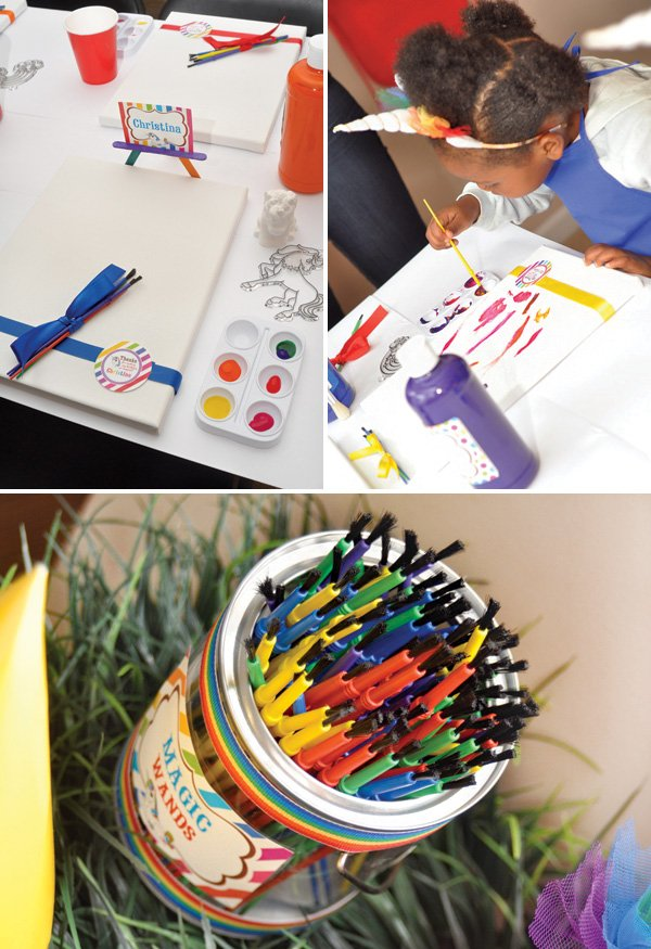 rainbow painting party activity