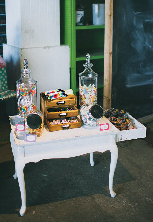 rainbow candy sweets table