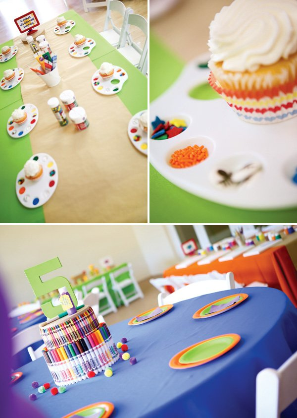 rainbow party cupcake decorating activity