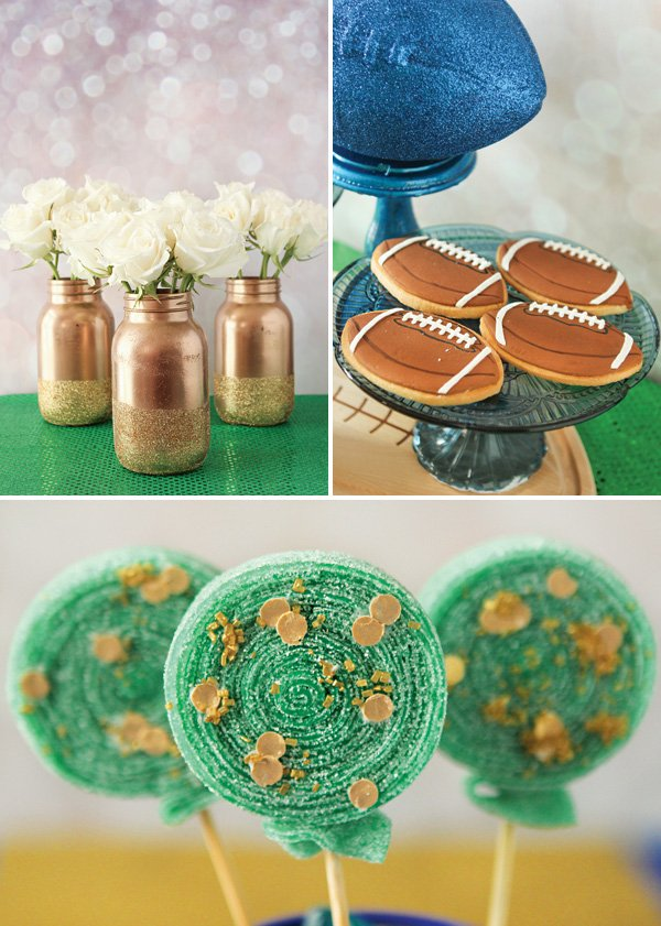 gold football party ideas