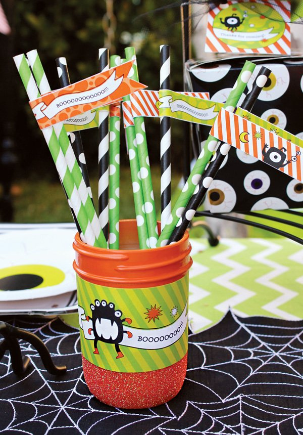 halloween drink party flags