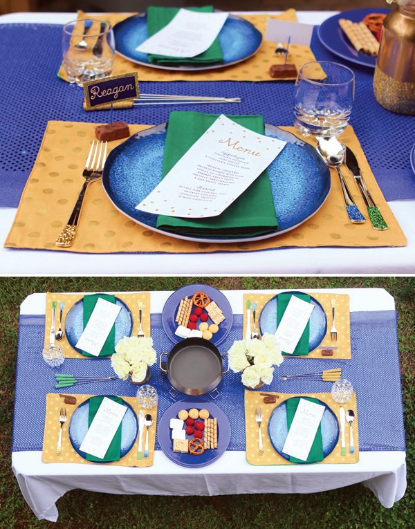 outdoor football party tablescape