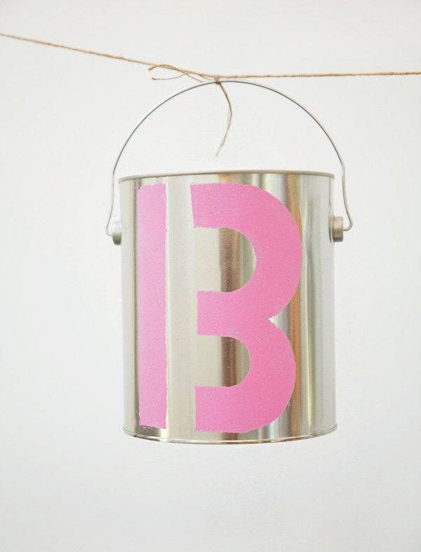 painted paint can garlands