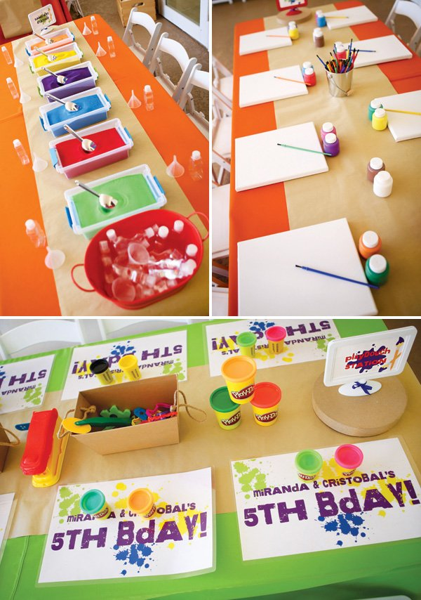 rainbow art party activity ideas