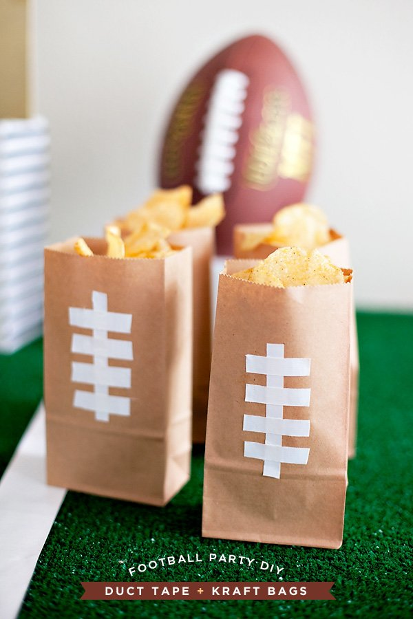 DIY Football Party Chip Bags