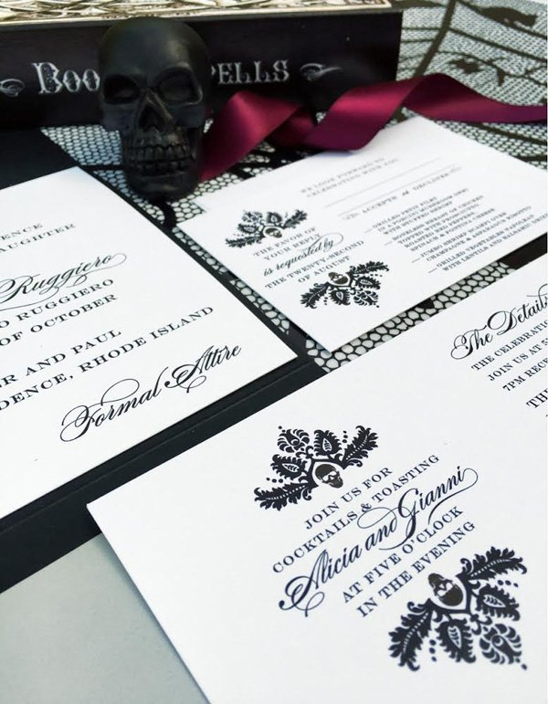 Halloween Stationery Suite - Black White
