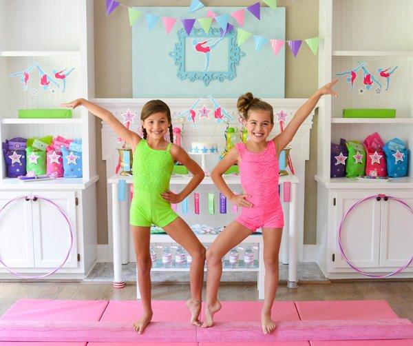 gymnastics birthday party ideas