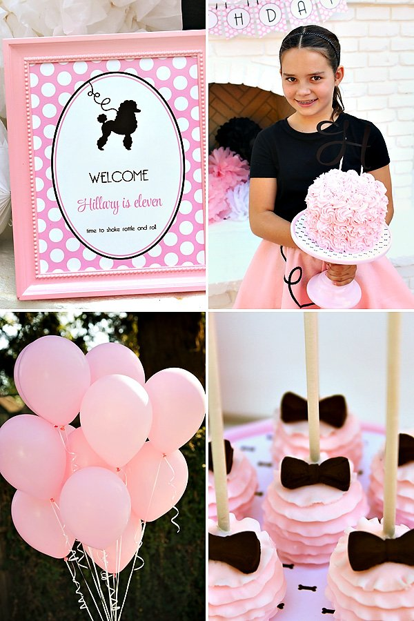 poodle skirt birthday party