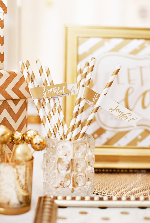 gold and white party printables