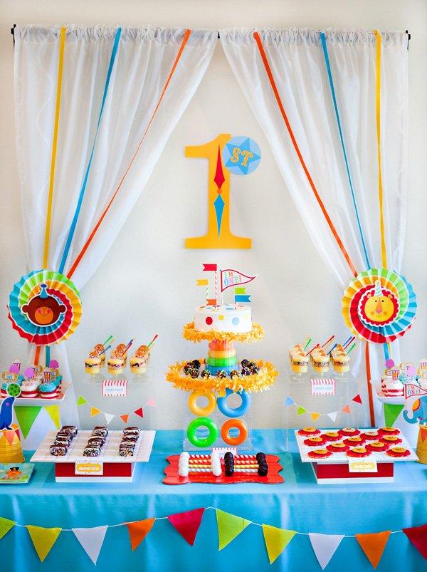 Circus Birthday Party Dessert Table