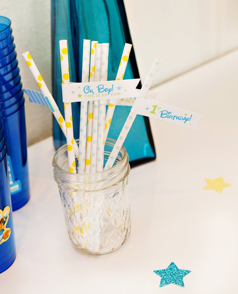 Mickey Mouse First Birthday Drink Straws