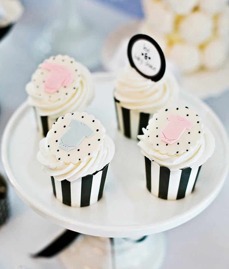 black and white baby shower celebration