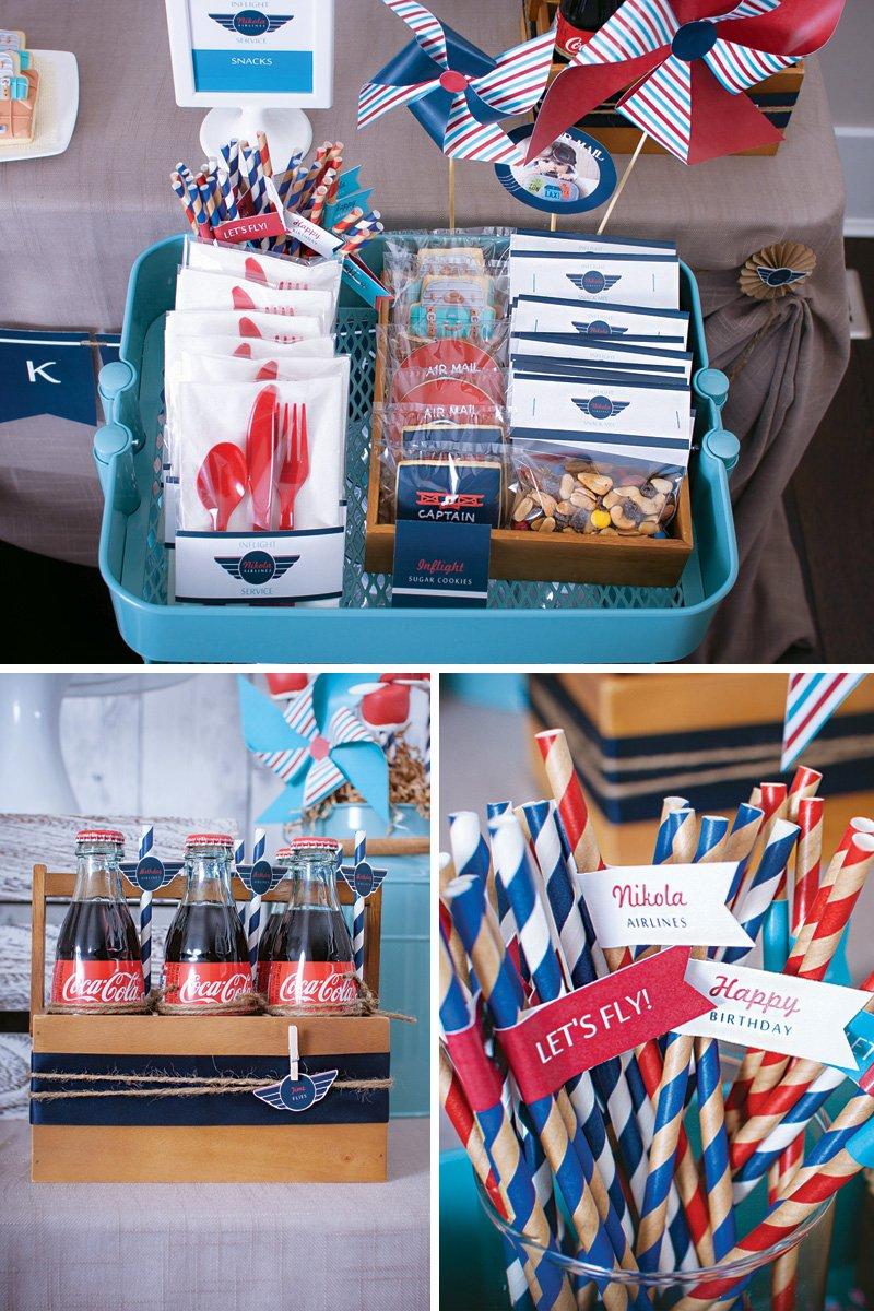 birthday party in flight beverages