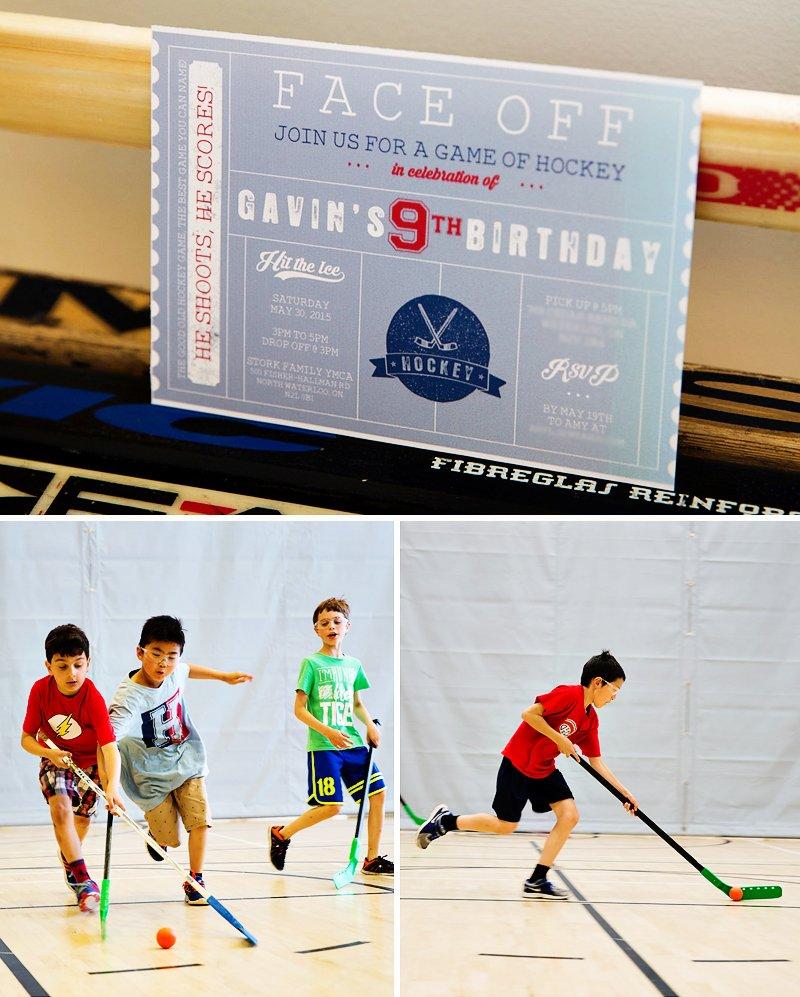 hockey birthday party