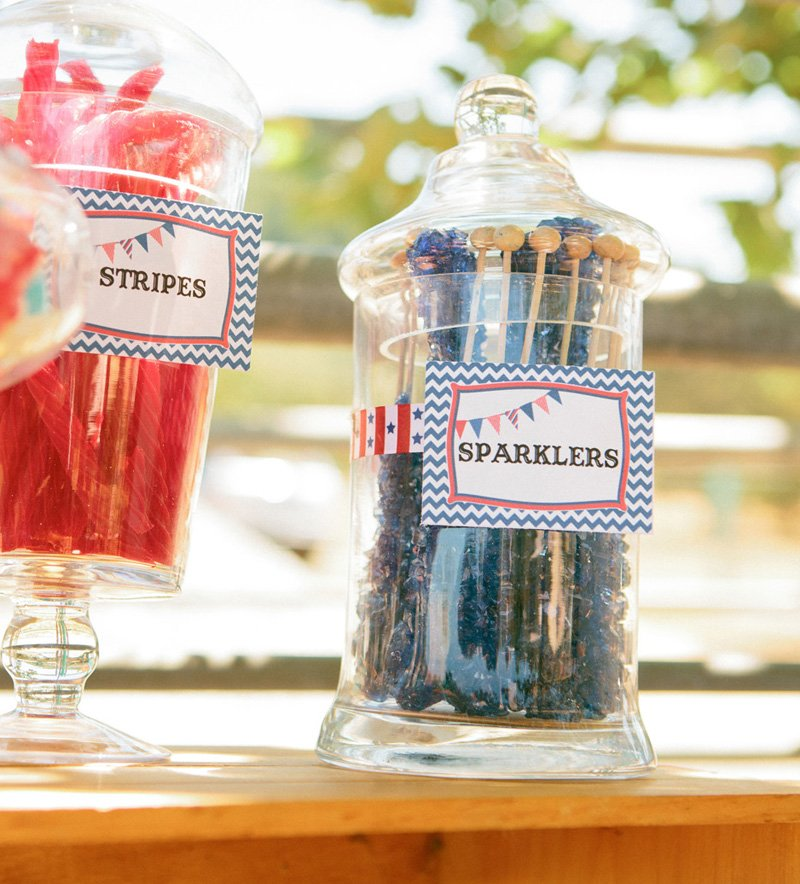 patriotic sparkler candy