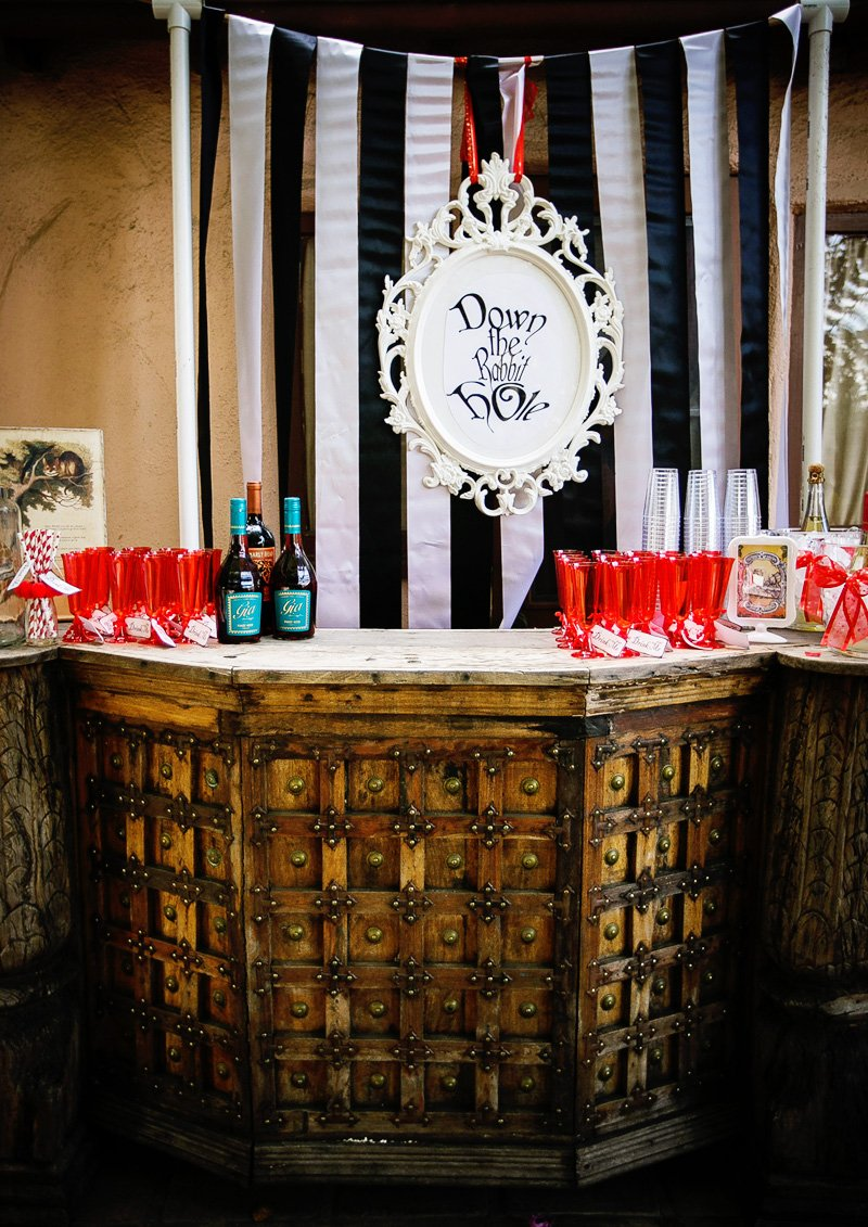 alice in wonderland party bar