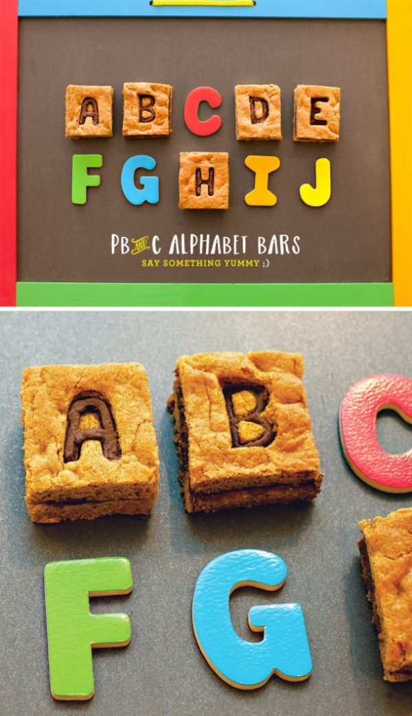 Peanut Butter & Chocolate Alphabet Cookie Bars Tutorial