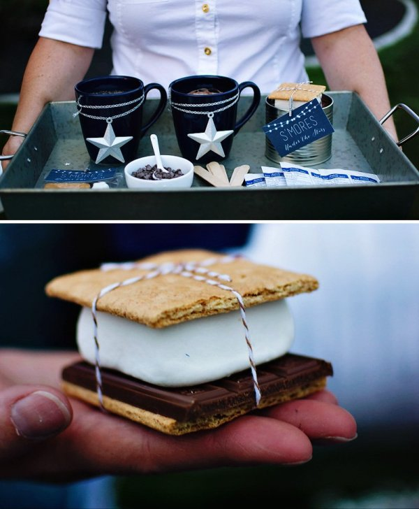 under the star s'mores bar
