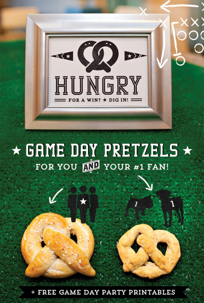 Game Day Pretzels for Dogs AND People