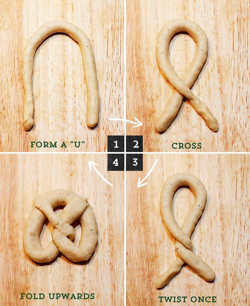 how to form a pretzel