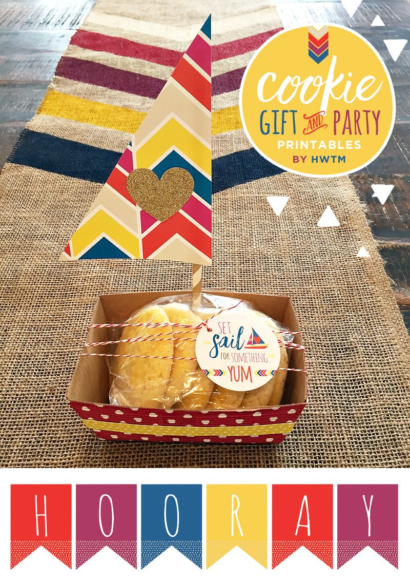 DIY Cookie Packaging Gift Idea & Free Printables from HWTM