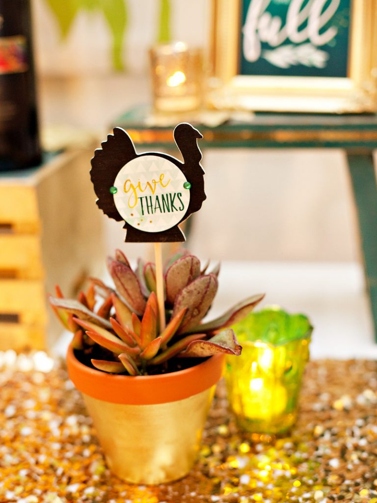 DIY Thanksgiving Decorations - Turkey Silhouette in Succulent
