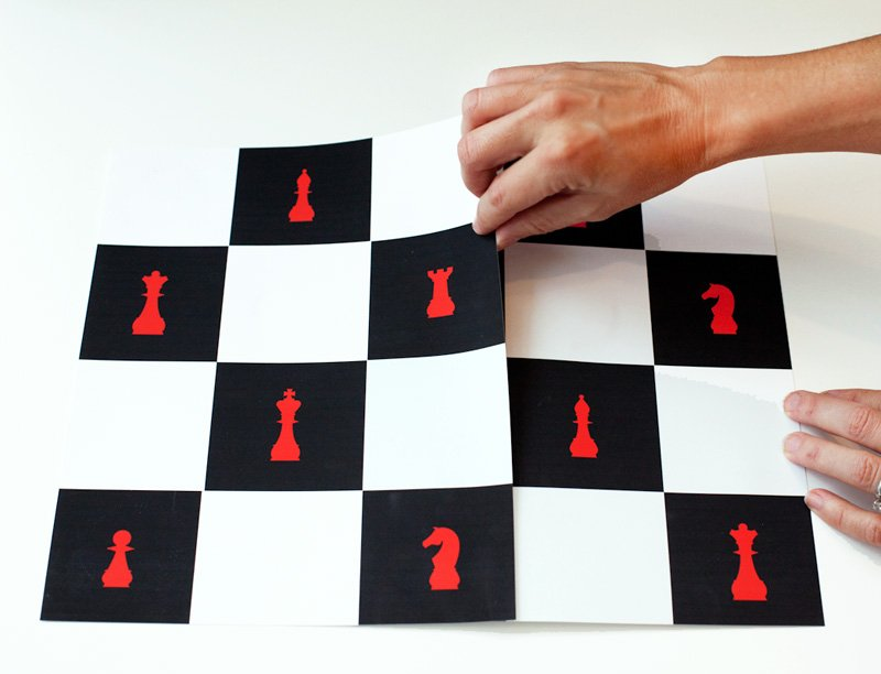 Printable Chess Board Decoration