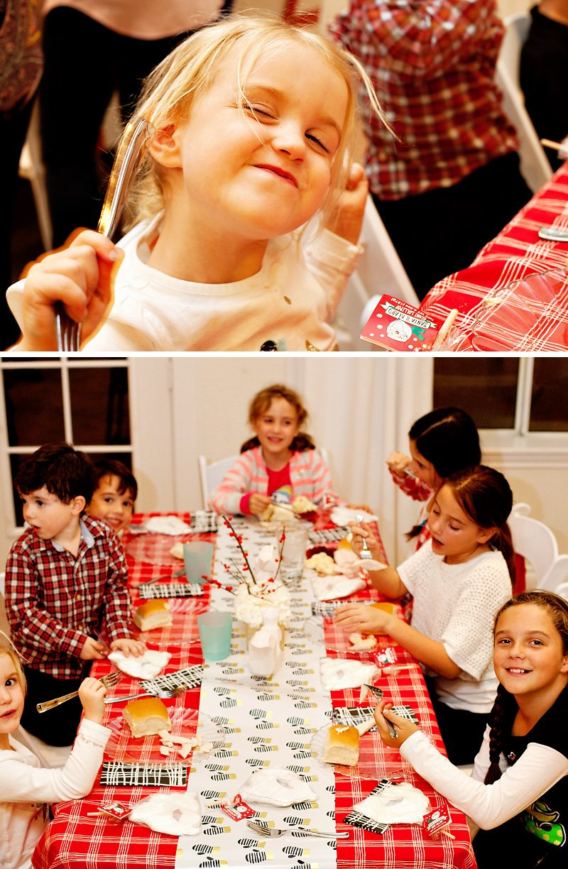 Kids Holiday Party Table