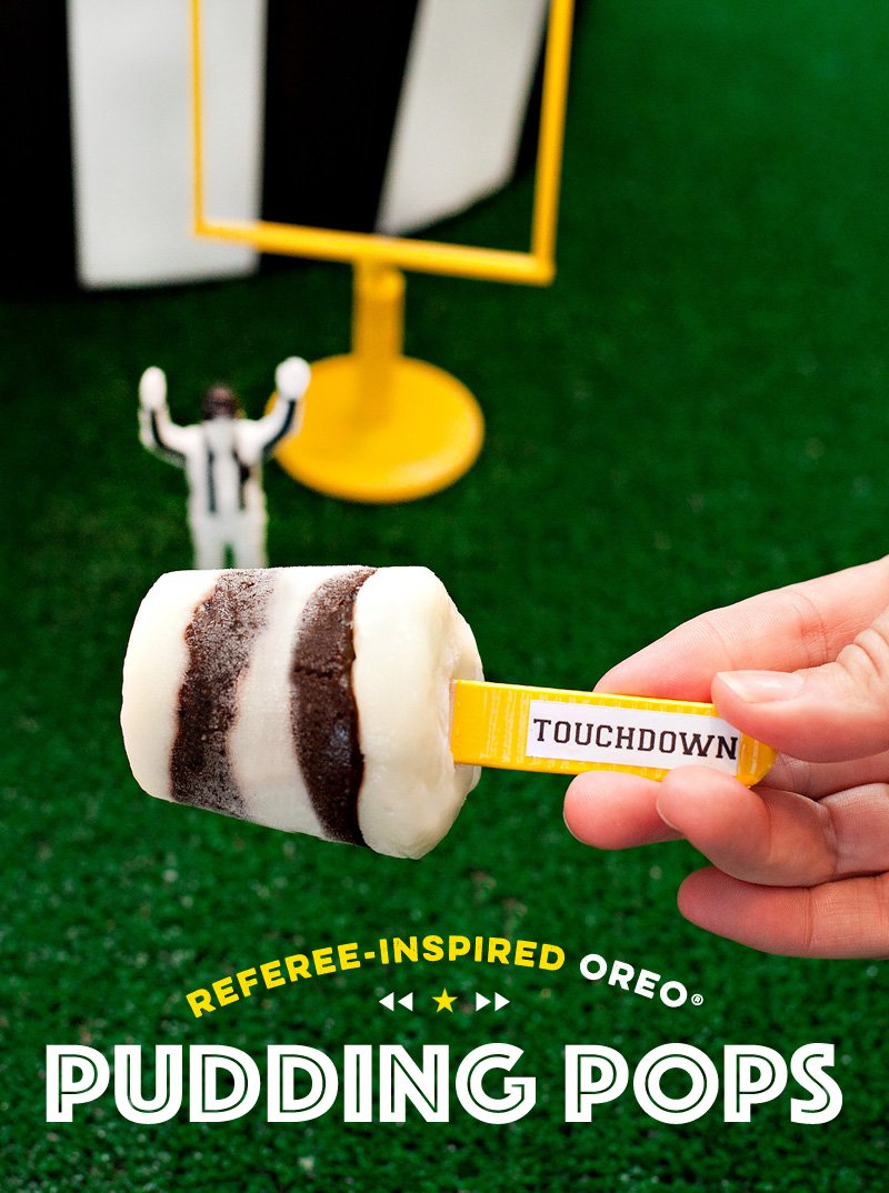 Football Referee Inspired OREO Pudding Pops