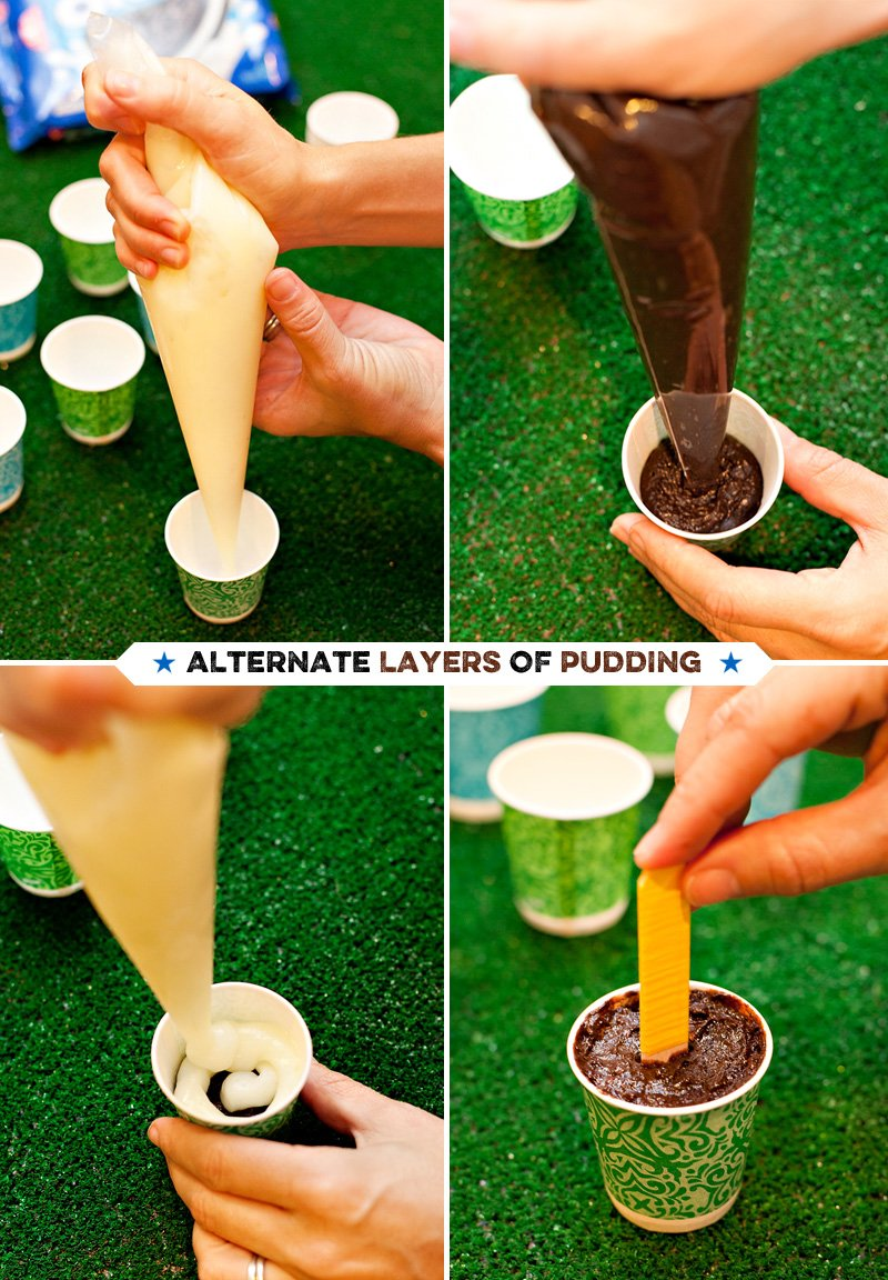 Layered Pudding Pops Tutorial (Game Day Treats)