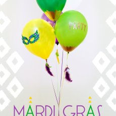 DIY Mardi Gras Balloon Decorations
