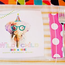 Party Animal Elephant Plates from HWTM
