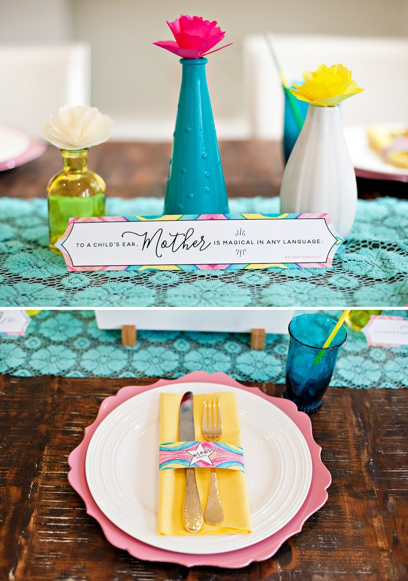 Mother's Day Printable Quote and Place Setting