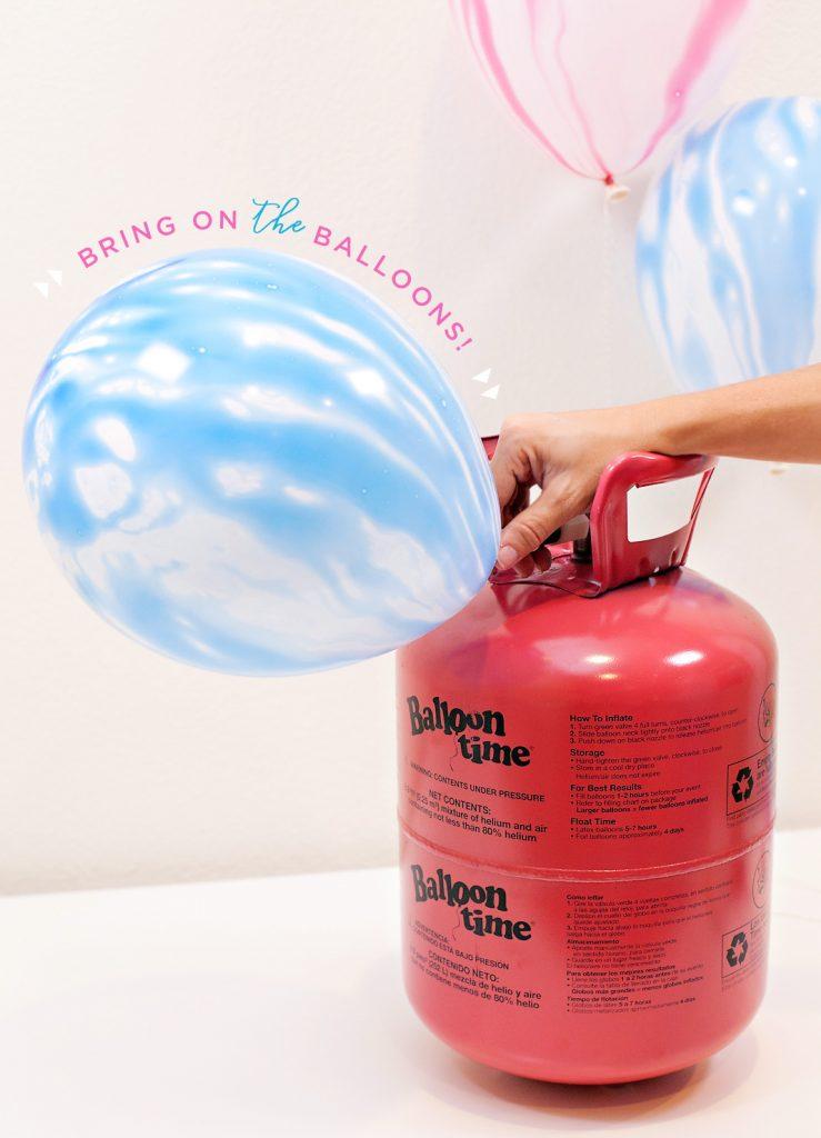 Blue Marbled Balloon + Balloon Time Tank