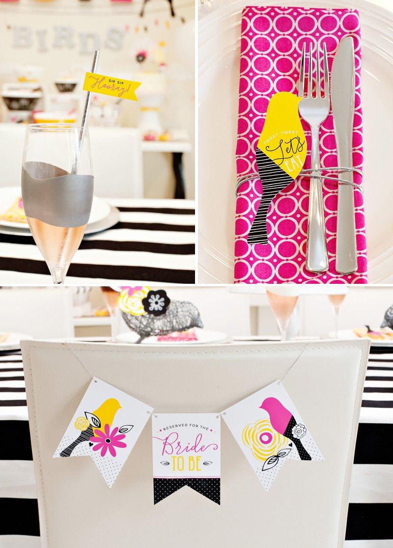 Love Birds Bridal Shower Table Ideas
