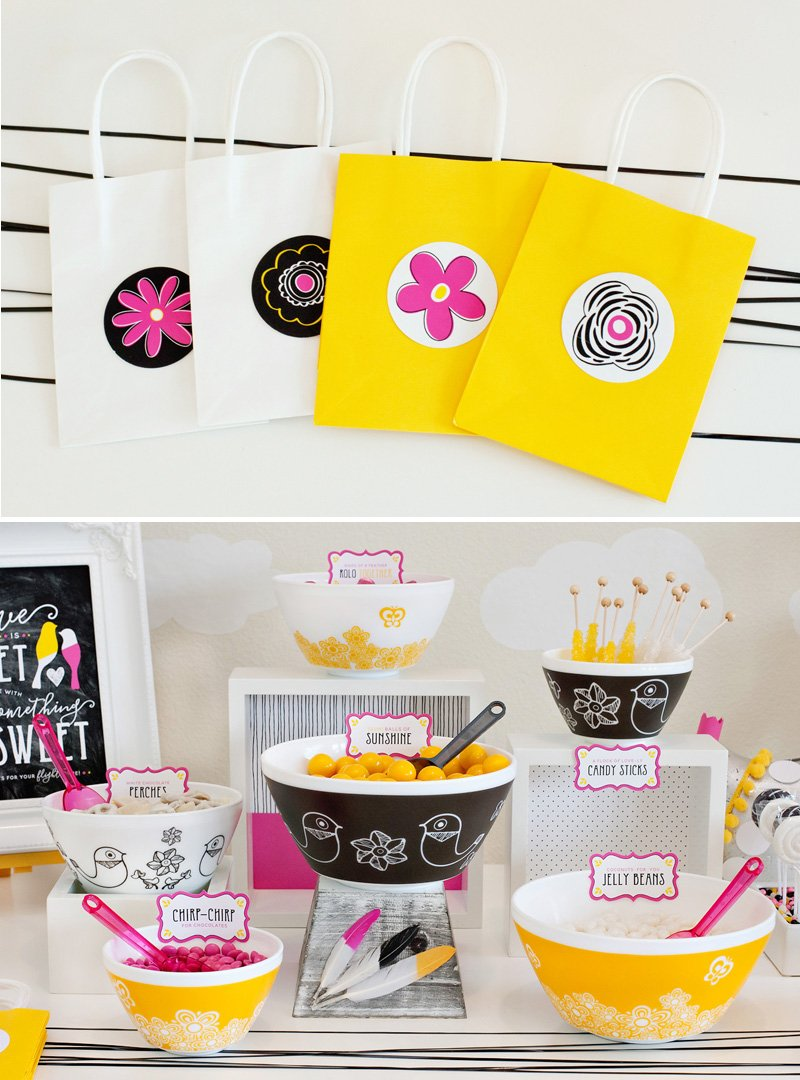 Love Birds Candy Buffet and Favor Bags