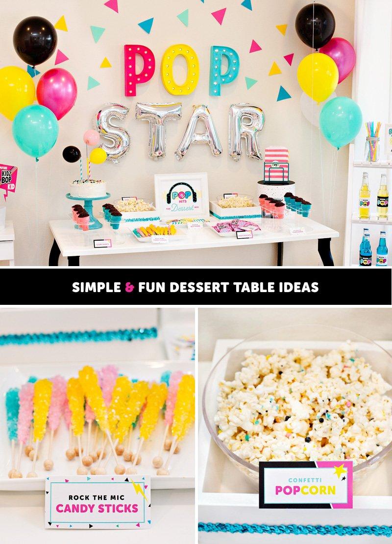 Pop Star Dessert Table Ideas