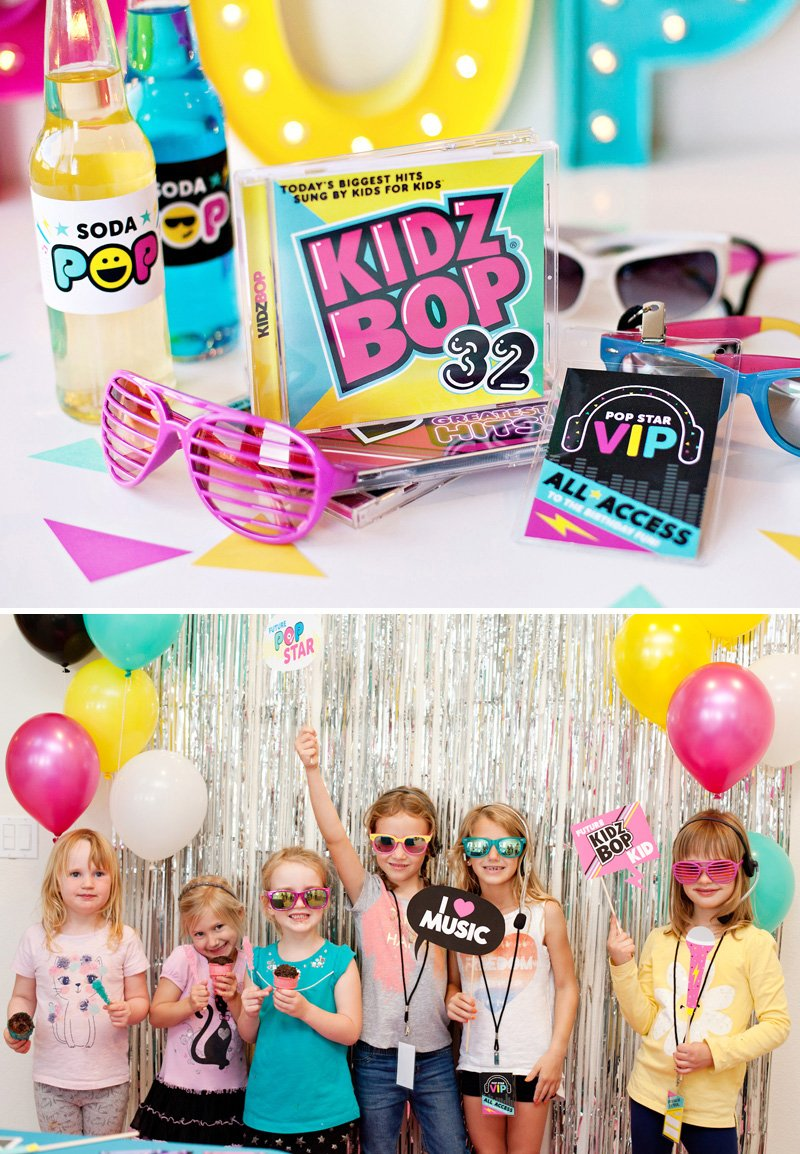 Pop Star Party Photo Booth
