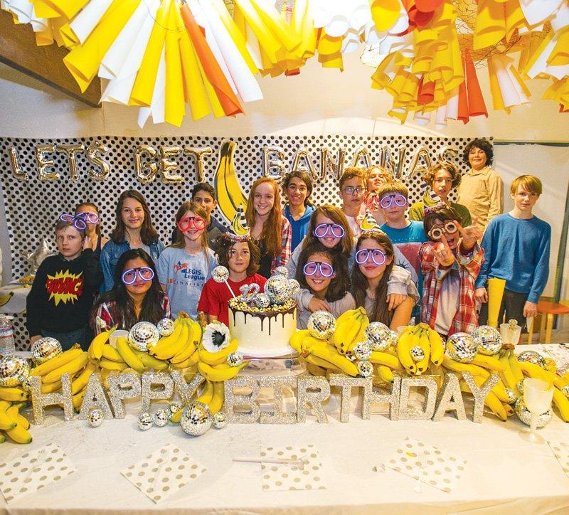 banana themed teen birthday party
