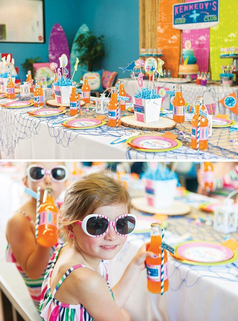 beach birthday party tablescape ideas