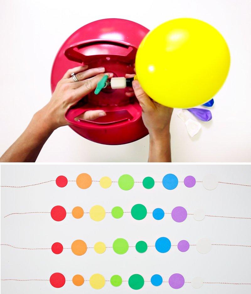 Rainbow Balloon Tassels DIY - 3