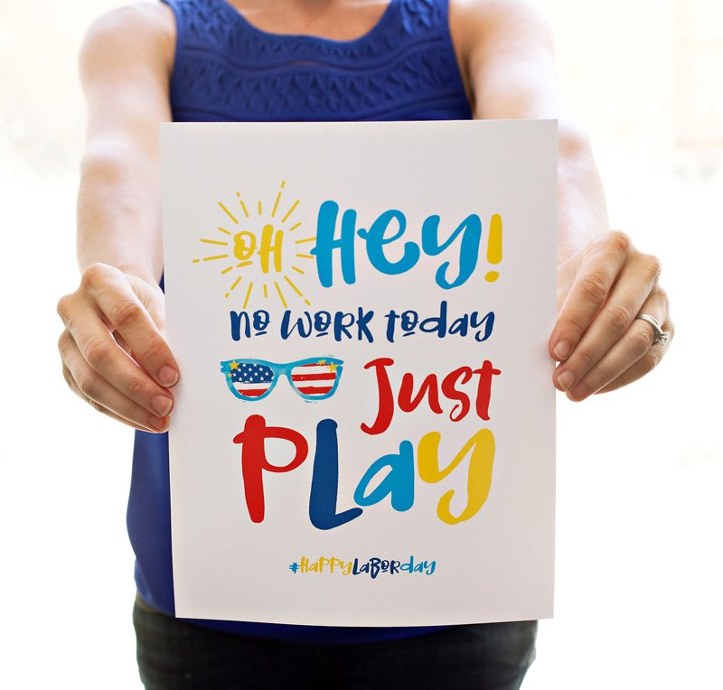 free printable Labor Day sign