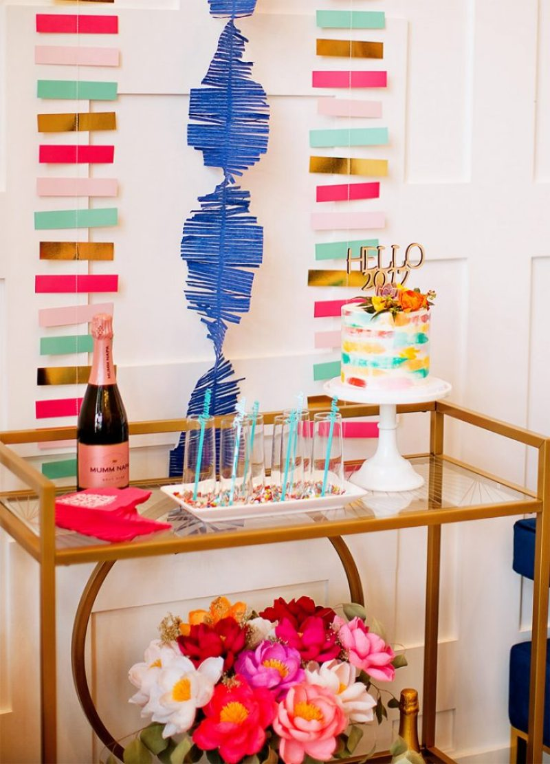 Bright and Colorful New Years Party