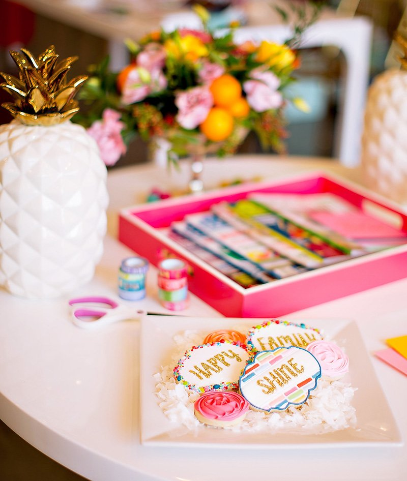 Crafting Party Cookies