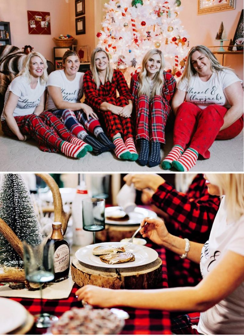 Girls Night In Holiday Party - Flannels and Flapjacks